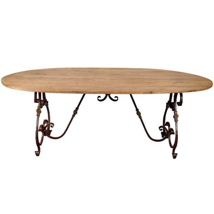 Furniture , 8 Fabulous Wrought Iron Dining Table Base : French Wrought-Iron Base Dining Table