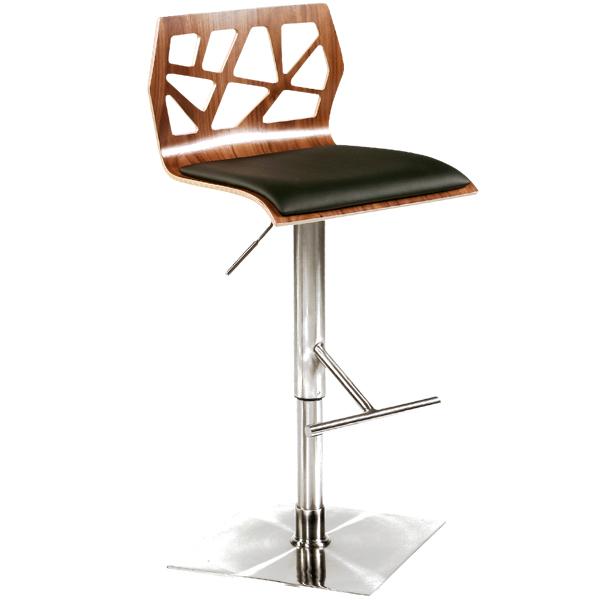 Furniture , 7 Fabulous Funky Bar Stools : Funky Bar Stool Walnut