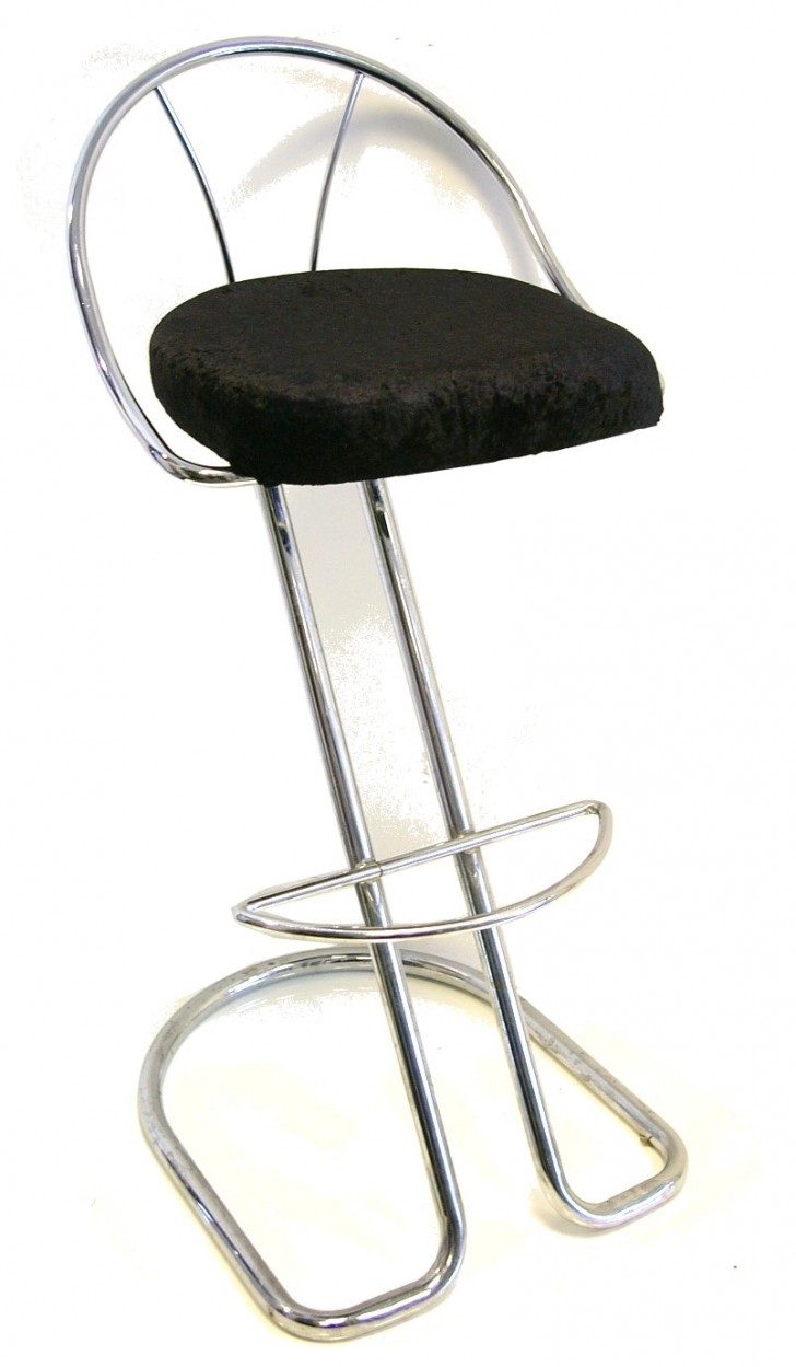 Furniture , 7 Fabulous Funky Bar Stools : Funky Black Crushed Velvet Bar Stool