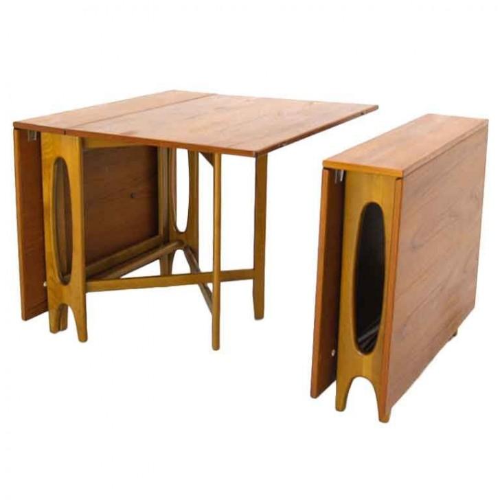 Furniture , 7 Perfect Gateleg Dining Tables : Gateleg Teak Dining Banquet Table