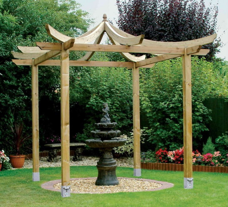 Others , 6 Best Pergola Kits : Grange Japanese Pergola Kit