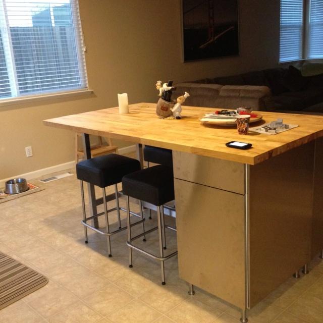 Furniture , 5 Stunning Butcher Block Dining Table From Ikea : IKEA Inspired Butcher Block Table