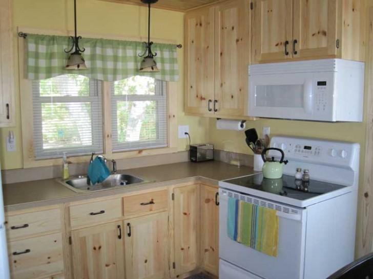 Kitchen , 8 Outstanding Knotty Pine Kitchen Cabinets : Knotty Pine Kitchen Cabinets