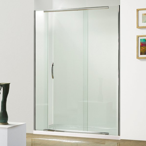 595x595px 7 Superb Semi Frameless Shower Door Picture in Bathroom