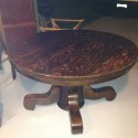 Large Georgian Manner , 5 Stunning Antique Round Pedestal Dining Table In Furniture Category