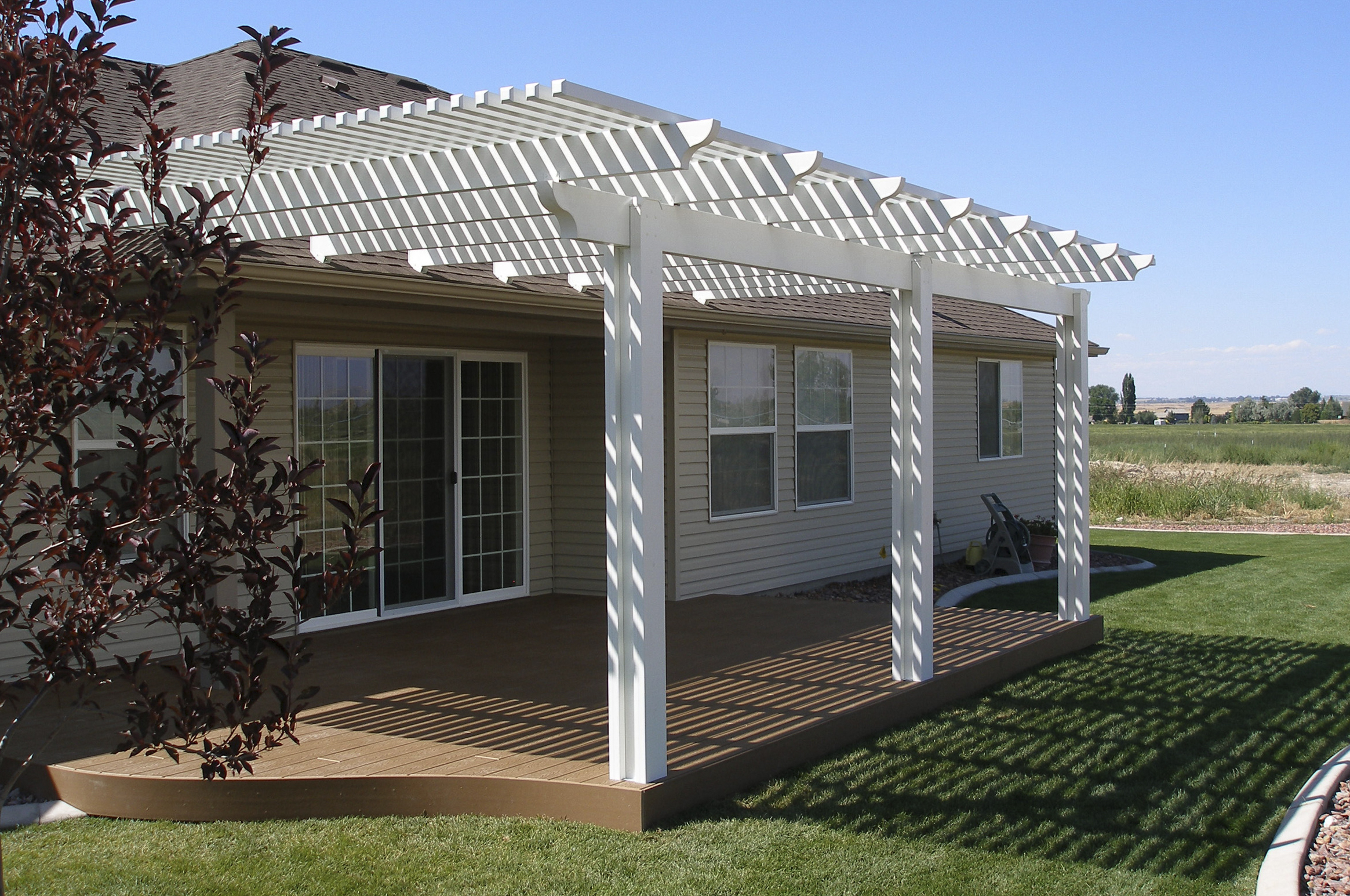 Homes , 8 Fabulous Lattice Patio Cover : Lattice Patio Covers