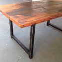 Metal Dining Table , 7 Charming Custom Reclaimed Wood Dining Table In Furniture Category