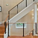 Modern cable stair rail design , 7 Good Cable Stair Railing In Interior Design Category