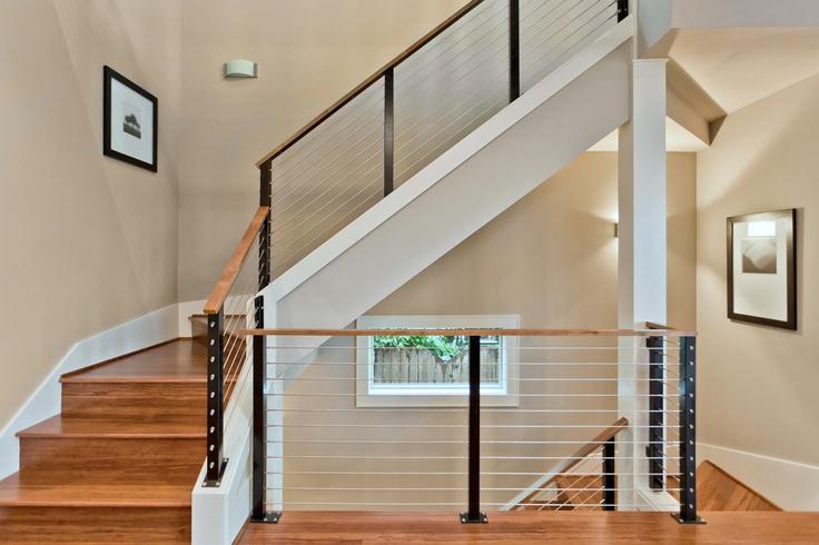 Interior Design , 7 Good Cable Stair Railing : Modern Cable Stair Rail  Design