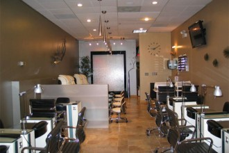 880x660px 5 Fabulous Nail Salon Interior Design Ideas Picture in Office