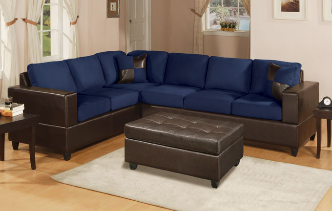 680x432px 7 Nice Navy Blue Sectional Sofa Picture in Furniture