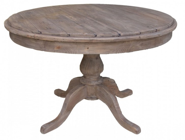 Furniture , 7 Good Rustic Plank Dining Table : Old Pine Wood Round Dining Tables