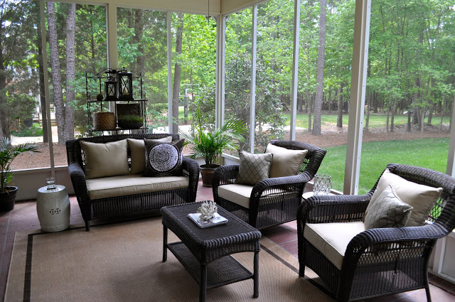 Living Room , 7 Excellent Screened Porch Furniture : Our Screened Porch
