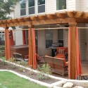 Homes , 8 Top Outdoor curtains for pergola : Pergola Privacy Curtains
