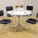 Plated Round Dining Table , 8 Gorgeous 50s Dining Table In Furniture Category