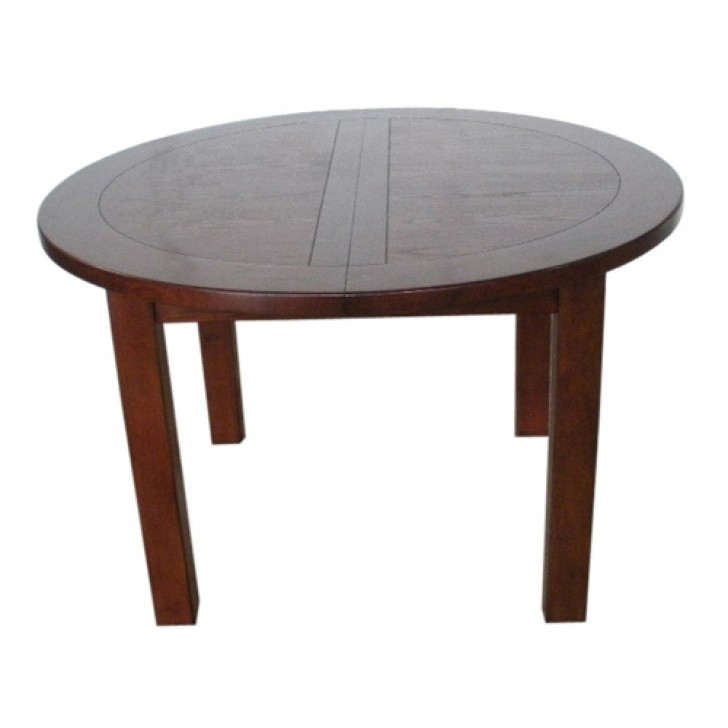 Furniture , 8 Unique Round Extending Dining Table : Plum Extending Round Dining Table