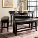 Pub Table and Stool Set , 4 Lovely Emory Counter Height Dining Table In Dining Room Category