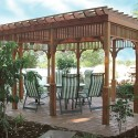 Real Wooden Yard Pergola , 6 Best Pergola Kits In Others Category