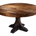 Reclaimed Wood Round Dining Table , 8 Good Round Reclaimed Wood Dining Table In Furniture Category