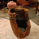 Reclaimed wood dining table , 7 Fabulous Tree Trunk Dining Table In Furniture Category