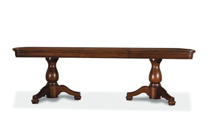 Furniture , 7 Hottest Double Pedestal Dining Room Table : Rectangular Double Pedestal Table