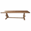 Refectory Large Rustic Pedestal , 6 Popular Rustic Pedestal Dining Table In Furniture Category
