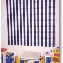 Roman shade in bold white and navy stripe , 7 Superb Striped Roman Shades In Interior Design Category