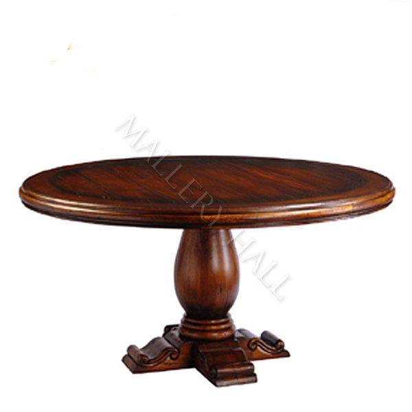 Furniture , 6 Charming Mahogany Pedestal Dining Table : Round Mahogany Pedestal Dining Table