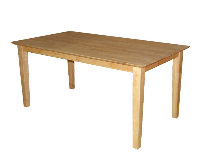 Furniture , 6 Outstanding Rubberwood Dining Table : Rubberwood Classic Large Rectangular Dining Table