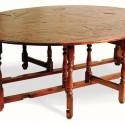 Rustic Acacia Oval Gateleg Dining Table , 8 Awesome Gateleg Dining Table In Furniture Category