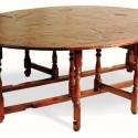 Rustic Acacia Oval Gateleg Dining Table , 8 Awesome Gateleg Dining Table In Furniture Category