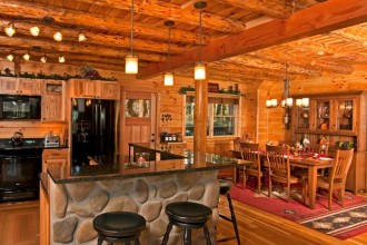 620x500px 6 Awesome Rustic Cabin Interior Design Ideas Picture in Living Room