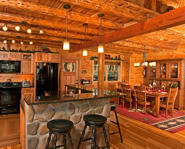 Living Room , 6 Awesome Rustic Cabin Interior Design Ideas : Rustic Log Cabin Interior Design
