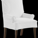 Sag Harbor Slipcovered Dining Arm Chair , 8 Awesome Slipcovered Dining Chairs In Furniture Category