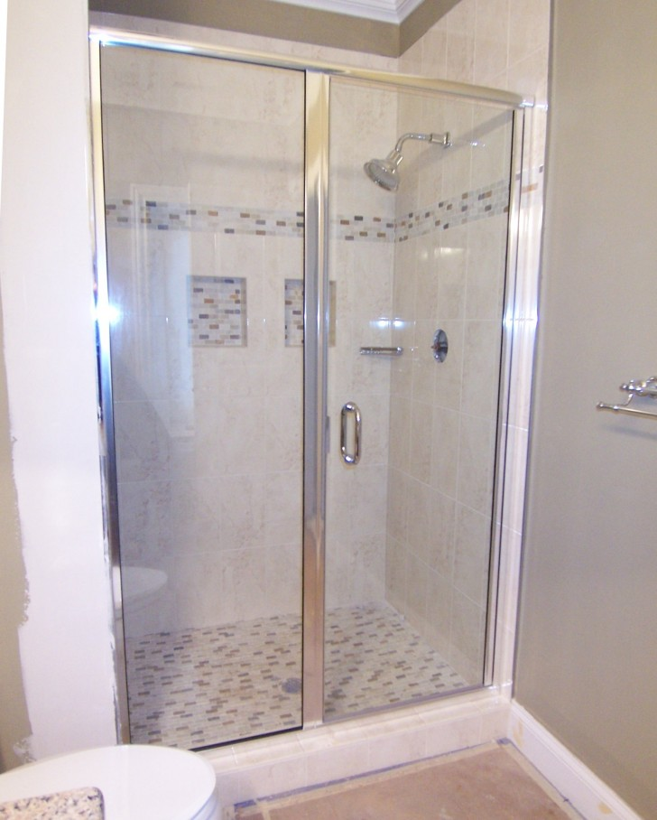 Bathroom , 7 Unique Semi Frameless Shower Doors : Semi Frameless Door Panel