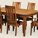 Shown in Rustic Cherry , 8 Charming Expandable Dining Table Set In Dining Room Category