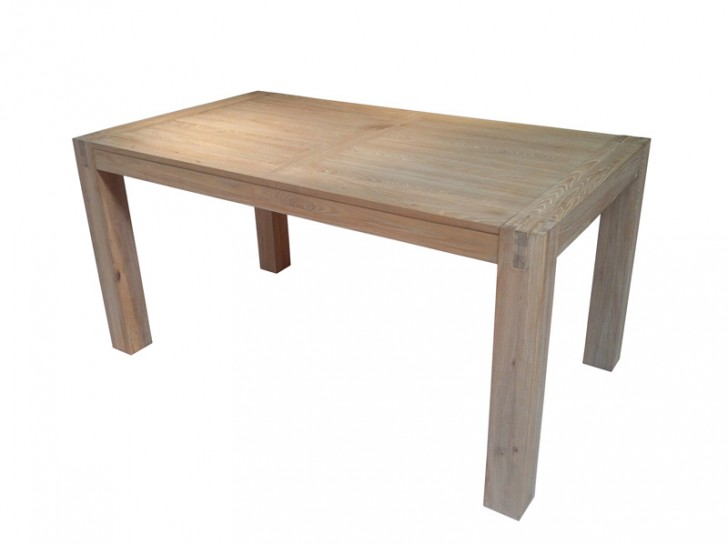 Furniture , 7 Cool Unfinished Wood Dining Tables : Solid Wood Dining Table
