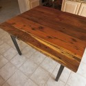 Square Reclaimed Redwood Dining Table , 7 Awesome Redwood Dining Table In Furniture Category