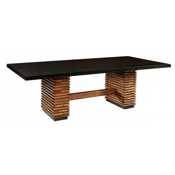Furniture , 8 Good Rectangular Pedestal Dining Table : Stockholm Rectangular Pedestal Dining Table