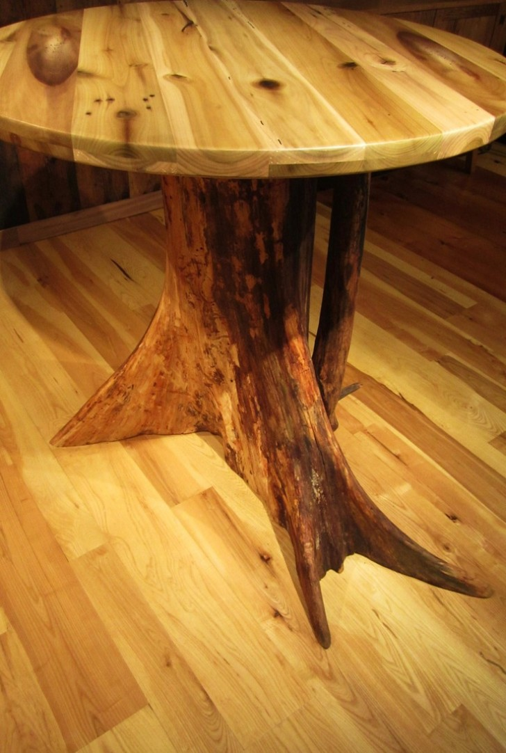Furniture , 7 Amazing Tree Stump Dining Table : Stump Table reclaimed wood