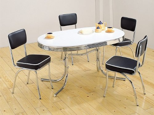 Furniture , 8 Gorgeous 50s Dining Table : Style Oval Dining Table