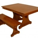 Table in Reclaimed Wood , 5 Excellent Trestle Dining Table With Leaf In Furniture Category