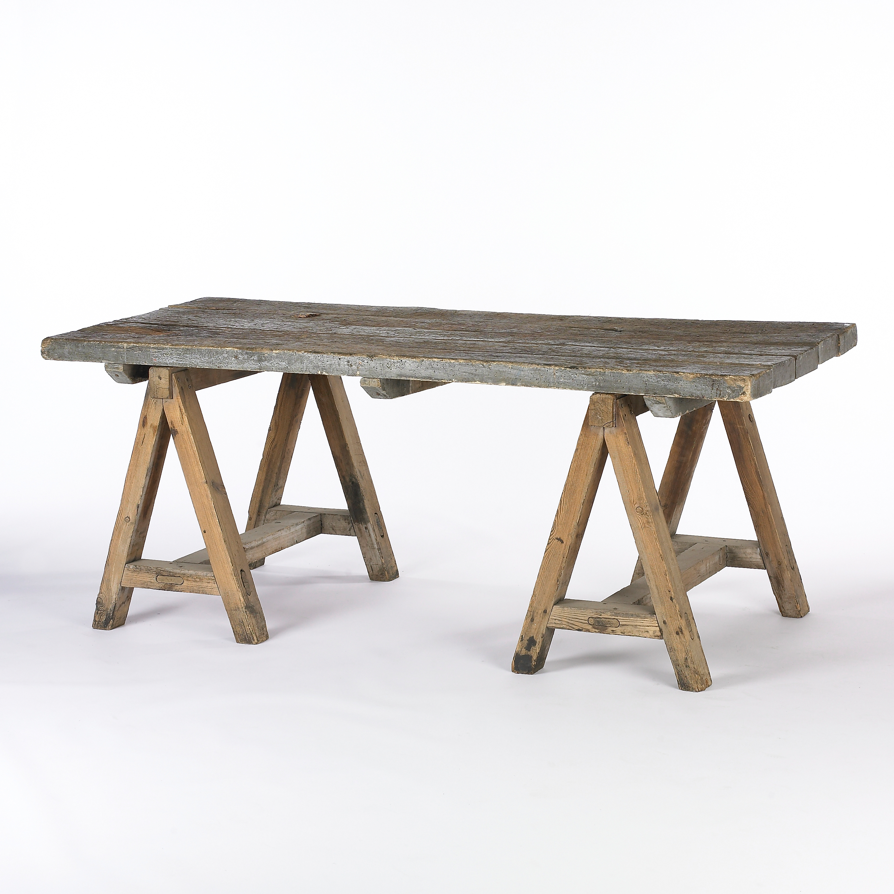 3074x3074px 7 Perfect Sawhorse Dining Table Picture in Furniture