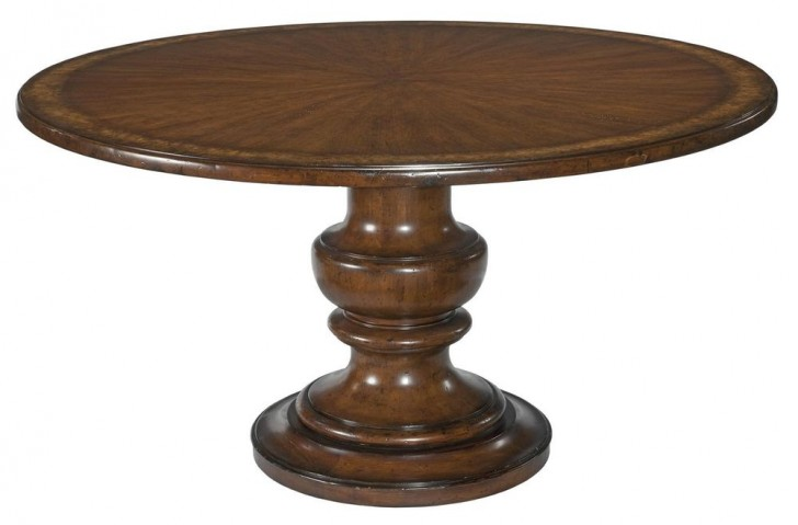 Furniture , 5 Top 72 Round Pedestal Dining Table : Table in Reclaimed Wood