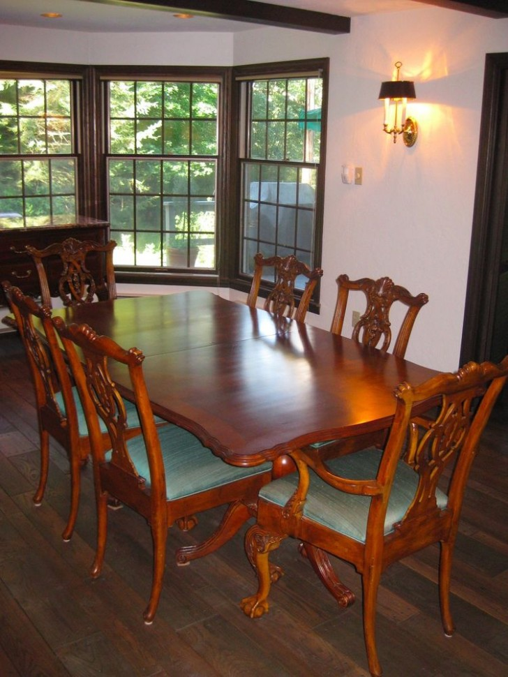 Furniture , 5 Hottest Drexel Dining Room Table : Table with industrial legs