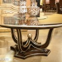 Tango Round Dining Table With Glass , 7 Excellent Marge Carson Dining Table In Furniture Category