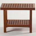 Teak Grate Shower Bench With Shelf , 8 Best Teak Shower Bench In Furniture Category