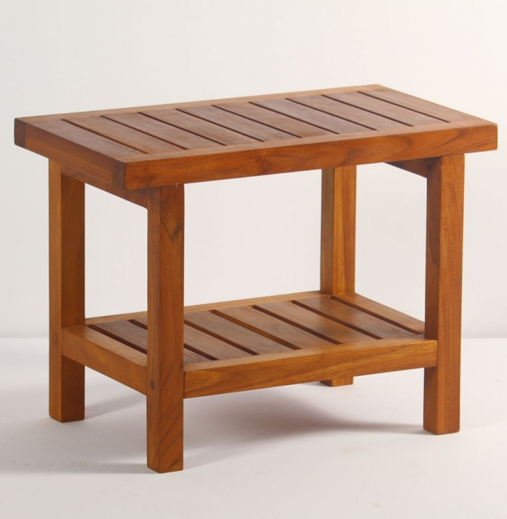 Furniture , 8 Best Teak Shower Bench : Teak Spa Shower Bench With Shelf