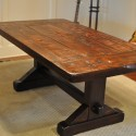 The Emerson Rustic Trestle Dining Table , 8 Fabulous Rustic Trestle Dining Table In Furniture Category