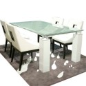 Tiffany Crackled Glass Dining Table Set , 7 Hottest Crackle Glass Dining Table In Dining Room Category